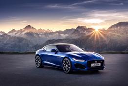 Jag F-TYPE R 21MY Velocity Blue Reveal Switzerland 02.12.19 01