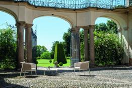 01 Carousel thick twist alu rope lounge chair + Cross coffee table Villa e Collezione Panza