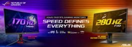 ASUS Announces World's Fastest Gaming Monitors - rectangle