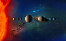 planets in solar system 4k