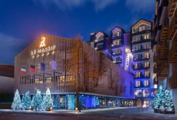 Le Massif Hotel Façade By Night