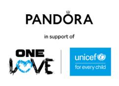 Pandora OneLove UNICEF Logo Portrait Black Blue