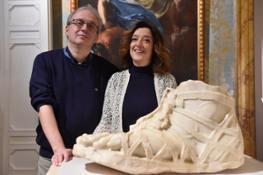 I curatori Fabrizio Paolucci e Lorenza Camin