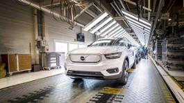 271934 Volvo XC40 Recharge production in Ghent Belgium