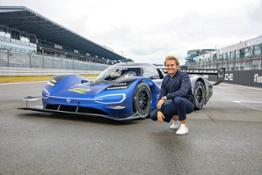 Formula 1 champion Nico Rosberg tests the Volkswagen ID.R electric race car--12358