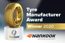 20201029 EN Hankook Tyre UK wins TyreSafes Tyre Manufacturer of the Year Award for the second consecutive time