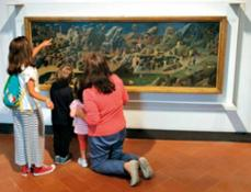 Bambini ammirano la Tebaide di Beato Angelico