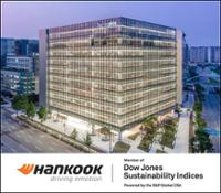 20201125 Hankook Tire listed Hankook  listed in DJSI World for the fifth consecutive year