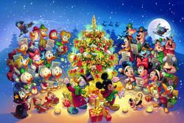 Poster Natale Topolino