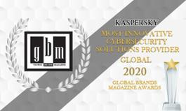 Kaspersky premiata ai GBA2020 come Most Innovative Cybersecurity Solutions Provider Global