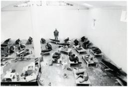 Mimmo Paladino nel suo studio 1998ca