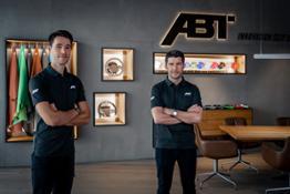 ABT DTM drivers 2021 Kelvin van der Linde(l) Mike Rockenfeller(r)