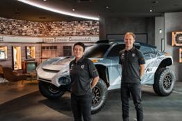ExtremeE Drivers 2020-18 Claudia Huertgen(l) Mattias Ekstroem(r)