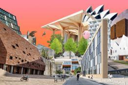 Dansk Arkitektur Center Bag facaden udstilling collage lavformat hires