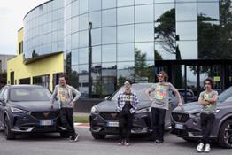 CUPRA Italia official automotive partner di VR46RA (maggio 2021)