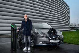 Pep Guardiola and his Nissan LEAF 1-source