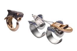 triplo anello squalo takerisks collection by Gianni De Benedittis futuroRemoto