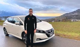 Sebastien Buemi and his Nissan LEAF 1-source