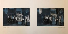 Roger Welch, Cigar store, 1979, acrilico su foto in b n, 50x26 cm, courtesy A Pick Gallery