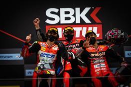 WorldSBK Race 1 podium