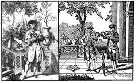 2- Due disegni accostati in UNO di cornamusa e corno