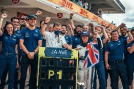 Williams Racing Development Driver Jamie Chadwick and Williams Team