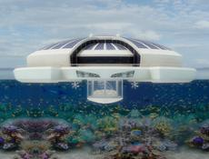 Solar Floating Island exterior render