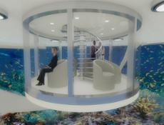 Solar Floating Island interior render