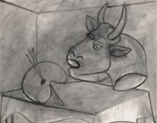 Picasso Palette et Tête de Taureau