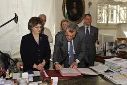 Foto 7 - Firma accordo tra Soprintendenza e Ferragamo