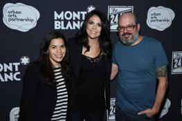 Actors America Ferrera, Cecily Strong, and David Cross attends the 14th Annual The 24 Ho