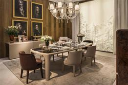 3095_BE Bradley dining table with Baron chairs