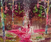 Crazy Flowers, 2010, vernice su tela, 50 x 60 cm