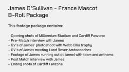 James O'Sullivan - France Mascot