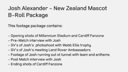 Josh Alexander - New Zealand Mascot