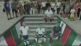 ITALY AWAY KIT REVEALED THROUGH 3D STREET ART IN BARI
