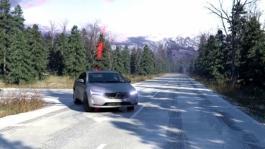 199282 Slippery road alert animation