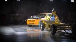 199283 New Volvo V90 Cross Country Crash Test Side Impact Collision