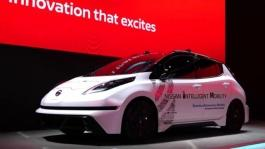 Nissan booth at CES 2017 B Roll