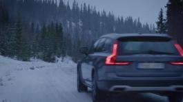 Volvo V90 Cross Country running footage