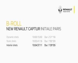 Test drive New Renault CAPTUR INITIALE PARIS B-roll