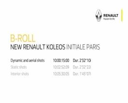 New Renault KOLEOS Initiale Paris - Press B-roll