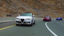 AR Stelvio Quadrifoglio Footage Driving Jabel Jais