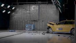 Volvo V90 frontal offset 40 crash
