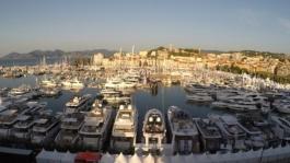 Footage Timelapse, le Cannes Yachting Festival vu d'en haut