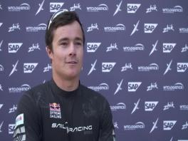 ESS Los Cabos 021218 Post race IV Red Bull Sailing Team Micah Wilkinson (NZL) English