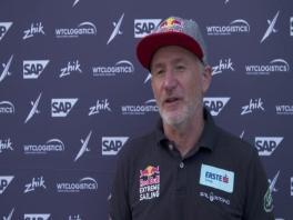 ESS Los Cabos 021218 Post race IV Red Bull Sailing Team Roman Hagara (AUT) English-German