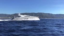 A2 Refit - Yacht under way