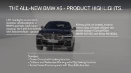 Clip The all-new BMW X6 – Product Highlights