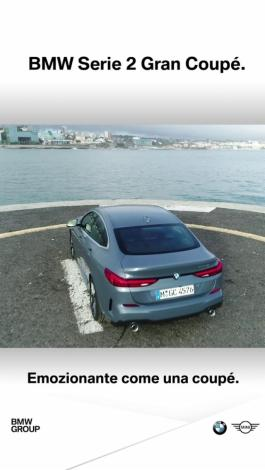 BMW CLIP FEB 2020  BMW Serie2 GranCoupe Social 1